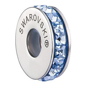 Charm Nút Chặn Chiếc Nhẫn Crystals From Swarovski Đường Tròn Tự Do CDT 03 - Xanh Dương
