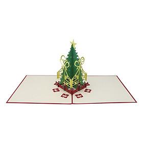 Thiệp Nổi 3D Ninrio - Christmas Tree Light - CN067