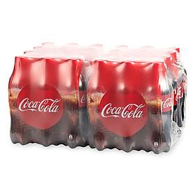 Lốc 24 Chai Nước Giải Khát Có Gas Coca-Cola (390ml / Chai)