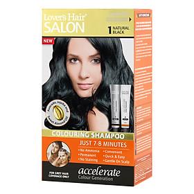 Dầu Gội Nhuộm Tóc Lover's Hair Salon 1 Natural Black Wellwisse  9700040 (60ml /  Tuýp)