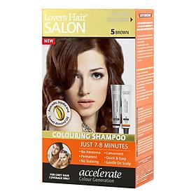 Dầu Gội Nhuộm Tóc Lover's Hair Salon 5 Brown Wellwisse 9700039 (60ml /  Tuýp)