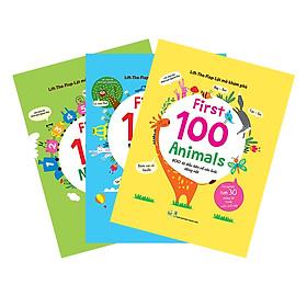 Combo Lift-The-Flap - Lật Mở Khám Phá - First 100 Words + First 100 Animals + First 100 Numbers (Tặng Combo Sách Thiếu Nhi)