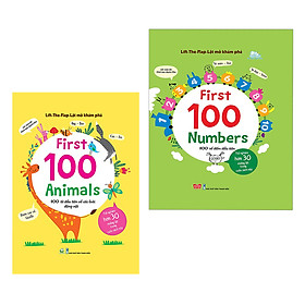 Combo Lift-The-Flap - Lật Mở Khám Phá - First 100 Animals Và First 100 Numbers