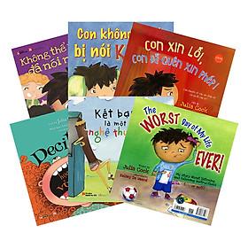 Combo Ehon Nhật Bản Tủ Sách Người Mẹ Tốt: Tuyển Tập Julia Cook - Tặng Kèm Sách Người Mỹ Giúp Con Ham Đọc Sách