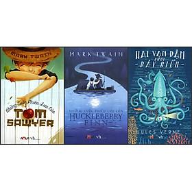 Combo Những Cuộc Phiêu Lưu Của Tom Sawyer - Những Cuộc Phiêu Lưu Của Huckleberry Finn- Hai Vạn Dặm Dưới Đáy Biển (Đinh Tị Books)