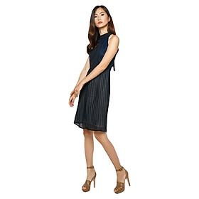Đầm Yếm Ren Xếp Ly La Belle D221 - Xanh