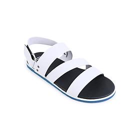 Giày Sandal Nam 3 Quai Ngang Evest D39 - Trắng