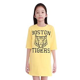 Đầm Suông Bé Gái Cirino DB_TIGER_VÀ In Họa Tiết Tiger - Vàng