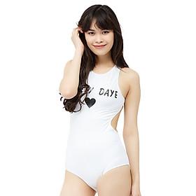 Bikini 1 Mảnh Vicsexy In Chữ Lovely Daye DB1M - Trắng