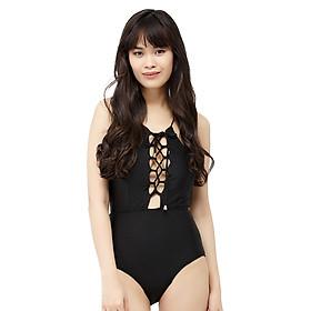 Bikini 1 Mảnh Vicsexy Đan Dây Trước Ngực DB1M - Đen