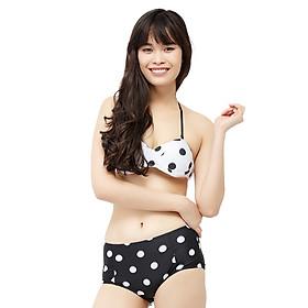 Bikini 2 Mảnh Vicsexy Chấm Bi DB2M-BKN - Đen Trắng