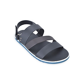Giày Sandal Nam 3 Quai Ngang Evest B135 - Đen