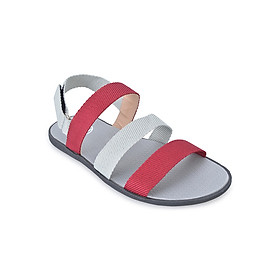Giày Sandal Nam Quai Ngang Evest A252 - Đỏ Phối Trắng