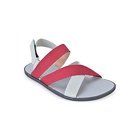 Giày Sandal Nam Quai Chéo Evest A246 - Đỏ Phối Trắng