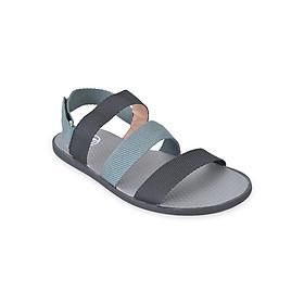 Giày Sandal Nam Quai Ngang Evest A255 - Đen Phối Xanh Nhạt