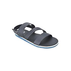 Giày Sandal Nam 3 Quai Ngang Evest D54 - Đen
