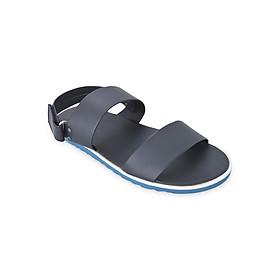 Giày Sandal Nam 2 Quai Ngang Evest D141 - Đen