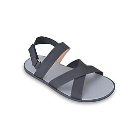 Giày Sandal Nam Quai Chéo Evest A247 - Đen