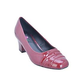 Giày Gót Vuông Mũi Nhấn Li Senta BB059 - Đỏ