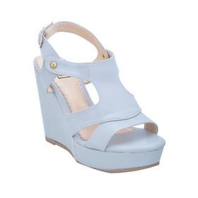 Giày Sandal Nữ Đế Xuồng Shinno 13001 - Xám