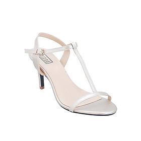 Giày Sandal Cao Gót Shinno 80002 - Kem