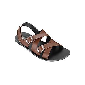 Giày Sandal Da Quai Chéo Nam DVS MD371 - Nâu