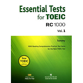 Essential Test For TOEIC RC 1000 Vol 1 (Không CD)