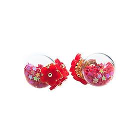 Hoa Tai Chuôi Hoa Bi Tròn Phối Ngôi Sao La Nymphe FB-520 - Đỏ