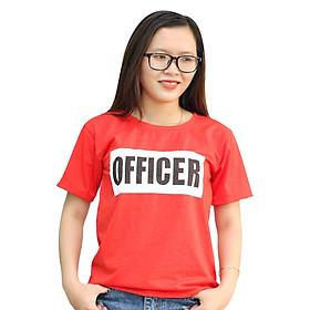 Áo Thun Form Rộng Officer T&D Màu Đỏ D76