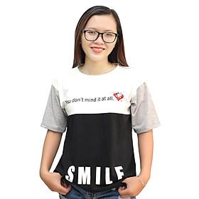 Áo Thun Form Rộng Phối Màu Smile T&D D70