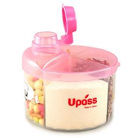 Hộp Chia Sữa Tròn 4 Ngăn Không BPA Upass UP8005CH – Hồng