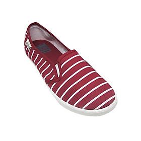 Giày Slip On Nữ Họa Tiết Sọc D&A EP L1602 D&A - Đỏ