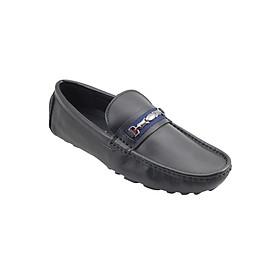 Giày Mọi Nam Đính Khóa G Alanti GS05-058-185-D (Đen)
