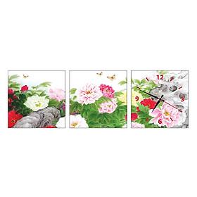 Hình đại diện sản phẩm Tranh Đồng Hồ Treo Tường 3 Tấm Thế Giới Tranh Đẹp HH150-DH