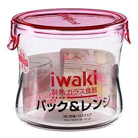 Hộp Thủy Tinh Tròn Iwaki KT7400-P - 240Ml