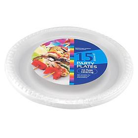 Bộ 15 Dĩa Nhựa Trắng Uncle Bills OD0043 - 22.5 Cm