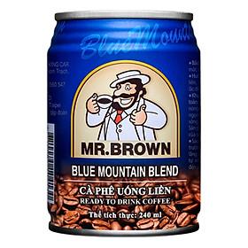 Cà Phê Sữa Đậm Đặc Mr.Brown Blue Mountain Lon 240ml