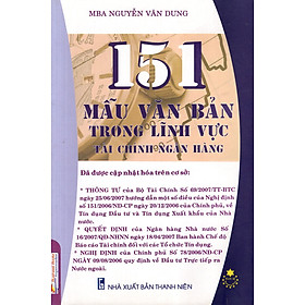 151 Mẫu Văn Bản Trong Lĩnh Vực Tài Chính Ngân Hàng