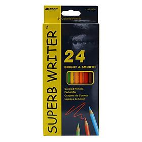 Bộ Chì Tô 24 Màu Superb Writer 4100-24CB (Hộp Giấy)