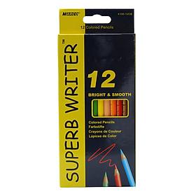 Bộ Chì Tô 12 Màu Superb Writer 4100-12CB (Hộp Giấy)