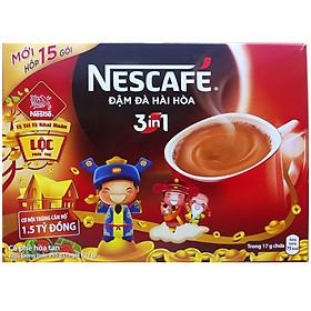 Hộp 15 Gói Nescafé 3in1 Đậm Đà Hài Hòa (17g) - Đỏ