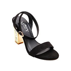Giày Sandal Gót Xoàn Quai Ngang Mozy MZSD029 - Đen