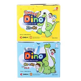 Combo Nước Uống Dinh Dưỡng Dành Cho Trẻ Em Smart Dino + Long Dino (20 Gói x 120ml)