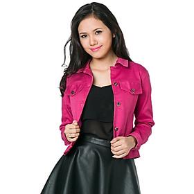 Jacket Ticke Tay Dài Nút Hai Bên Labelle JK2 - Hồng Đậm