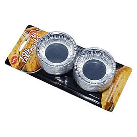 Bộ 36 Khuôn Mỏng Làm Bánh Tart Uncle Bills KC0105 - 8 x 2.5 Cm