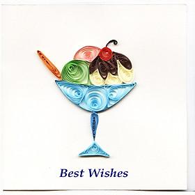 Thiệp Best Wishes Việt Net - Kem (10 x 10 cm)