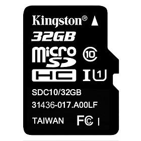 Thẻ Nhớ Micro SDHC Kingston 32GB Class 10 UHS-I SDC10G2/32GBSPFR - Hàng Chính Hãng