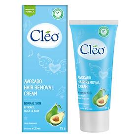 Kem Tẩy Lông Cho Da Thường Cleo Avocado Hair Removal Cream Normal Skin (25g)