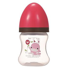 Bình Sữa Nhựa PP Cổ Rộng KuKu KU5929A (140ml) - Hồng