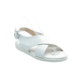 Giày Sandal Nữ Đế Bệt Quai Chéo Cindydrella L19T - Trắng